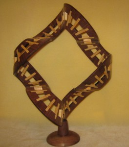 spoked wheel sculpture