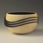 John Beaver Holly Ebony wave bowl