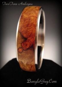Amboyna & Stainless Bracelet by Eric Goertz